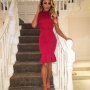 AMELIE PEPLUM DRESS STAIRS