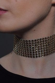 adorable accessories GOLD THICK CHOKER