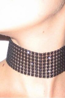 adorable accessories black thick choker