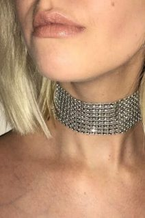 adorable accessories large silver choker